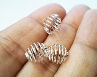 Bead Cages Charms, Wire Bead Cages, Bead Cages, Wire Bead Charm - 10pcs