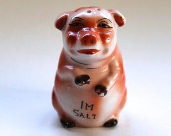 Vintage 1940's Pig Salt Shaker! Super Cute!