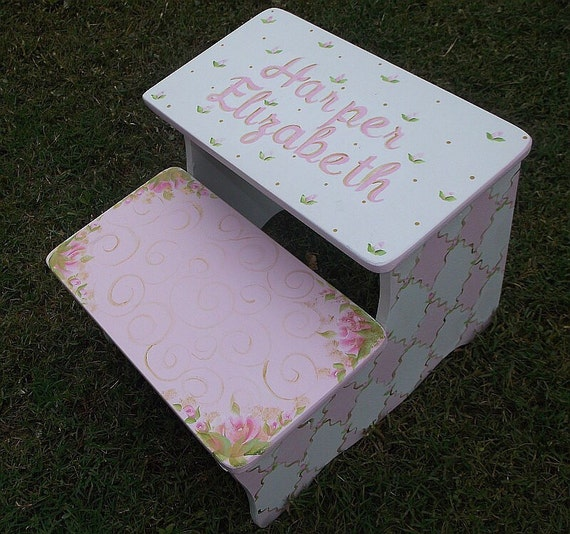 Hand Painted Roses Kids Furniture Kids Steps Amp Stools