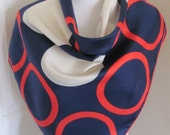 """ECHO // Lovely Red White Blue Soft  Silk Scarf // 32"""" Inch 81cm Square"""