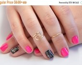 SALE TODAY - SALE - Buy 2 get 1 Free - Skinny Band Knucke Ring, Single Band Knuckle Ring, Skinny Midi Ring