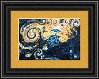 PRINT Reproduction -- Doctor Who Van Gogh Tardis Limited Edition Print -- 12 x 18 -- Only 100 Available