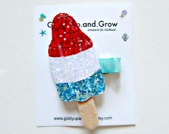 Bomb Pop Rocket Popsicle Ice Cream Hair Clip giddyupandgrow