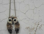 Especial order for Mary Ann    Barn OWL Wet Felted coin purse,Shoulder Bag