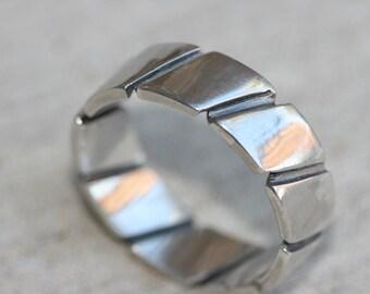 Artisan Designed Fine Silver Ring Wedding Band Handmade Sterling Unisex
