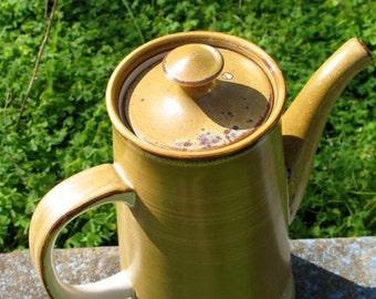 Amazing DEADSTOCK Atomic 60s Art Deco Style Stoneware Coffee Pot MInt Condition Never Used Made In Japan By NEC Genuine Stoneware