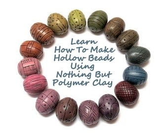 Polymer Clay Tutorial, How To Make Hollow Polymer Clay Beads Using Nothing But Polymer Clay, arcilla polimerica, d'argile de polymère