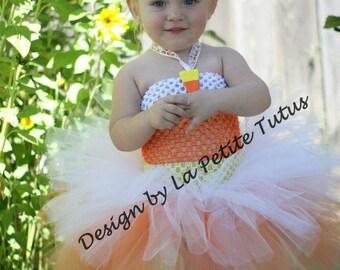 Candy corn tutu dress, candy tutu, candy corn, halloween costume, baby tutu, infant tutu, candy tutu dress, costume, candy costume,