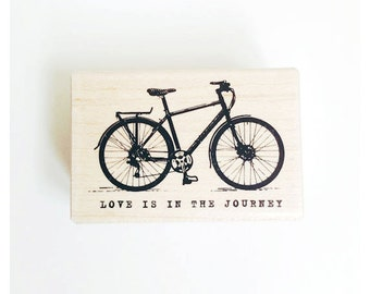F.Bicycle rubber stamp