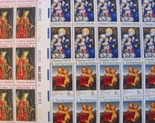 Christmas Mega Mixture 70 UNused Vintage US Postage Stamps Traditional Religious Catholic Virgin Mary XMas Save the Date Holiday Philately