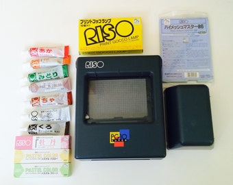Riso Print Gocco PG-10 Super, B6 Screens, Bulbs and Ink - Great Condition