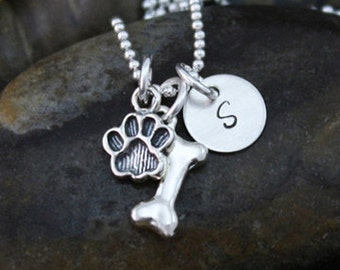 My Petite Dog Necklace   Sterling Silver Personalized Jewelry