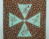 vintage COWBOY bandana • 1940s 50s handkerchief