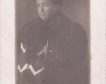 Vintage Photograph - Sad Lady - Vernacular Photograph, Ephemera (A)