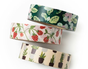 Washi tape set - new leaf - value pack - DIY - packaging - decorative tape - weddings -craft supplies- scrapbooking- Love My Tapes