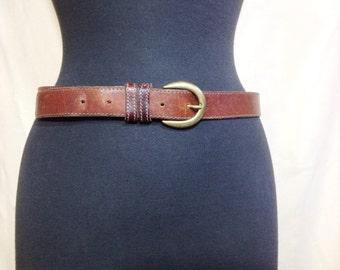 Vintage Belt, Brass Belt Buckle, Woman's Belt, Boho Belt, Men's belt, Rustic Belt, Leather Belt, Retro Fashion