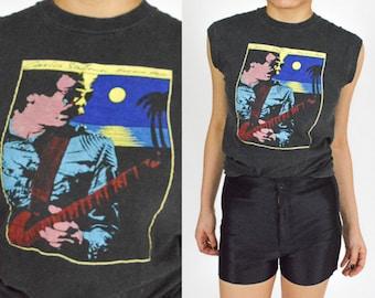Rare 1983 SANTANA -  Havana MOON Tour T Shirt - Original Concert Tour. Sleeveless. Rare VINTAGE. Santana 70's