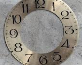 Large Vintage Clock Dial -- brass