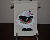 Easter Love Gift Muslin Hand Painted Gift Wrap Treat Bags