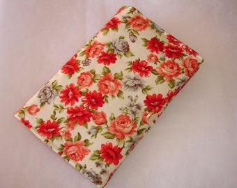 Porte-chéquier - Etui pour ordonnance en tissu fleuri couleurs vives