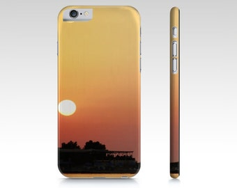 Sunset Phone Case - iPhone case - Beach Phone Cover - iPad Mini Case - Samsung Galaxy Case - S4 S5 5 5S 6 6S - Orange and Yellow