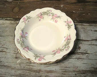 "Four Homer Laughlin Virginia Rose ""Heather Rose"" or ""Wayside"" Soup Bowls"