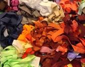 """Grab bag of 10 yards 5/8"""" fold over elastic - solid prints - super sale!! -"""