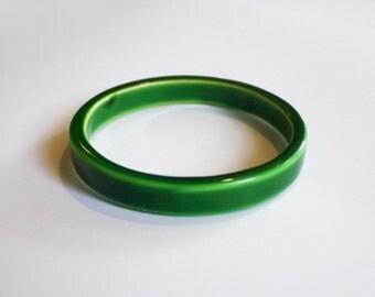 Bright Green Bangle Bracelet