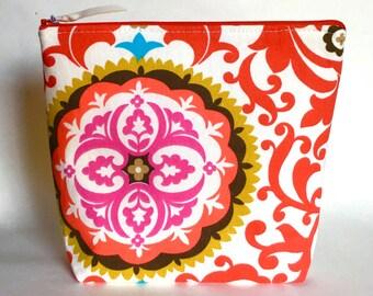 Cosmetic case, makeup bag, zipper pouch, Zippered Bag, electronics case, pencil case, Accessories Case, Clutch purse