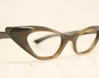 Vintage Eyewear brown Cat Eye Glasses Unused Cat Eye Eyeglasses
