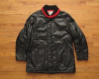 mens vintage Lakeland shawl collar leather jacket