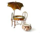 Fairy garden, fairy furniture, miniature garden, fairies, brass, Art Collectible, Sculpture, Art Objects, Brass, Copper, Metal Sculpture