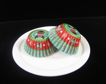 Reindeer Mini Cupcake Liners, Mini Baking Cups, Mini Muffin Papers, Candy Cups, Christmas Cupcake Liners, Xmas Cupcake Liners - QTY. 25