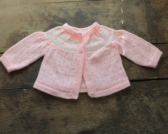1960s Knit Baby Pink Sweater