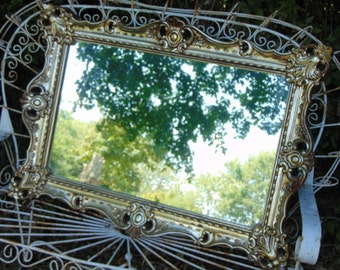 Baroque Mirror, Ornate Mirror, Gold Mirror, Antique Mirror, Shabby Chic, Nursery Mirror, Choose Color