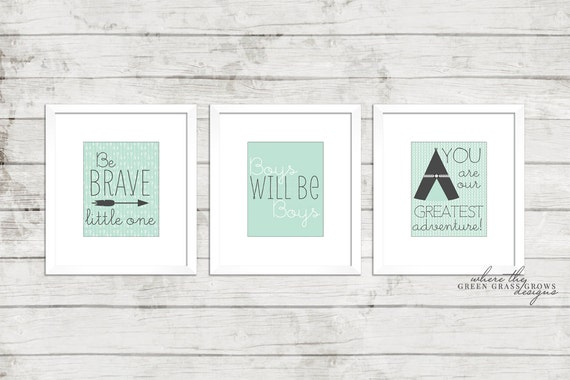 Boy Tribal Wall Art 8x10 Prints, Three Prints, Nursery Art Boy, Nursery Art, Boy Art, Baby Boy, Arrow Art, Tribal Art, Boy Bedroom Art,