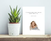 Gwyneth Paltrow Quote - Crack Print - Wall Decor. Wall Art. Kitchen Decor Gourmet Food Quote.