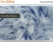 48 HOUR SALE Two Tone Navy Blue and white frosted tips FAUX Fur Craft Size