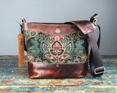 PRE-ORDER Leather Camera bag - Tapestry Convertible Handbag with Insert