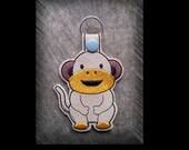 Clearance Zoo Monkey Embroidered Key Fob, Key Chain, Luggage Tag, Bag Clip, Vinyl, Key Ring, Purse Charm
