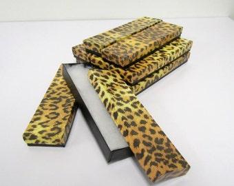 10 Pack LEOPARD Pattern Bracelet and Necklace Box // BOUTIQUE CHIC //