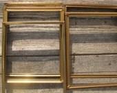 gold metal frames 5 picture frames 8 by 10 frames easel backs wedding frames hollywood regency