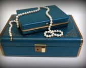 RESERVED for Linda  -  Vintage Farrington Jewelry Box/Case with Matching Travel Case