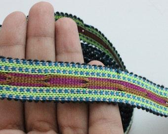 Uzbek colorful woven trim Jiyak