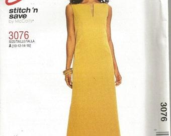 McCall's 3076 Easy Stitch N Save Dress Pattern SZ 10-16