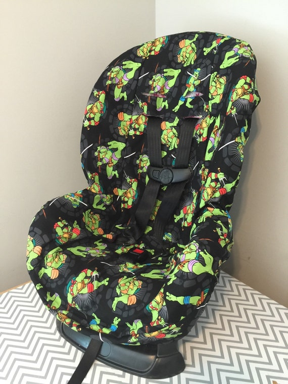 ready to ship toddler carseat cover made with teenage mutant. Black Bedroom Furniture Sets. Home Design Ideas