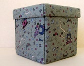 Hand made sewing storage box, travel sewing set, sewing kit