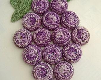 Vintage Crocheted Grape Bottlecap Trivet