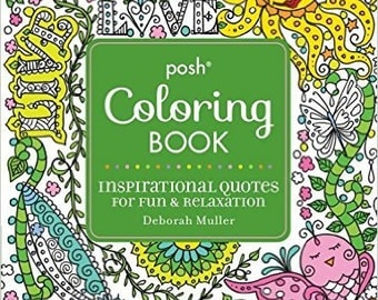 SIGNED COPY Inspirational Coloring Book Quotes Christian Positive Uplifting Spiritual Mantras Signed Copy