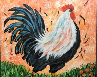 Colorful Rooster Painting